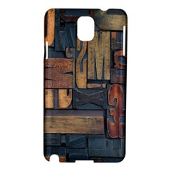 Letters Wooden Old Artwork Vintage Samsung Galaxy Note 3 N9005 Hardshell Case