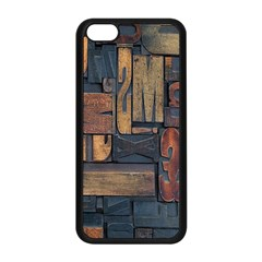 Letters Wooden Old Artwork Vintage Apple iPhone 5C Seamless Case (Black)