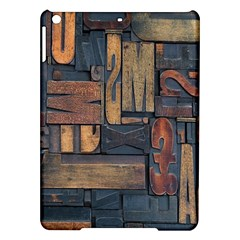 Letters Wooden Old Artwork Vintage iPad Air Hardshell Cases