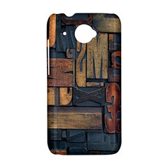 Letters Wooden Old Artwork Vintage HTC Desire 601 Hardshell Case