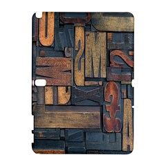 Letters Wooden Old Artwork Vintage Samsung Galaxy Note 10.1 (P600) Hardshell Case