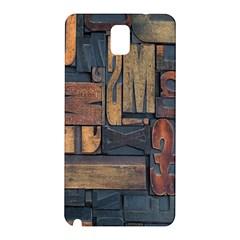 Letters Wooden Old Artwork Vintage Samsung Galaxy Note 3 N9005 Hardshell Back Case