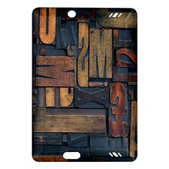 Letters Wooden Old Artwork Vintage Amazon Kindle Fire HD (2013) Hardshell Case