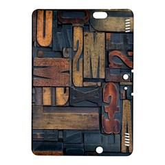 Letters Wooden Old Artwork Vintage Kindle Fire HDX 8.9  Hardshell Case