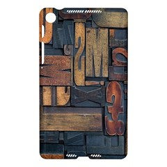 Letters Wooden Old Artwork Vintage Nexus 7 (2013)