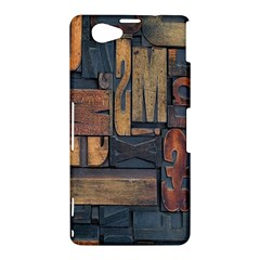 Letters Wooden Old Artwork Vintage Sony Xperia Z1 Compact