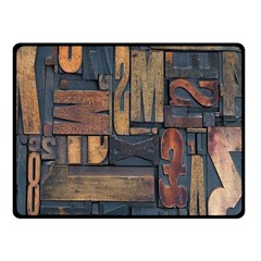 Letters Wooden Old Artwork Vintage Double Sided Fleece Blanket (Small)