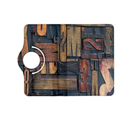 Letters Wooden Old Artwork Vintage Kindle Fire HD (2013) Flip 360 Case