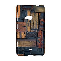 Letters Wooden Old Artwork Vintage Nokia Lumia 625