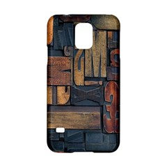 Letters Wooden Old Artwork Vintage Samsung Galaxy S5 Hardshell Case