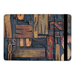 Letters Wooden Old Artwork Vintage Samsung Galaxy Tab Pro 10.1  Flip Case