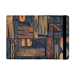 Letters Wooden Old Artwork Vintage iPad Mini 2 Flip Cases
