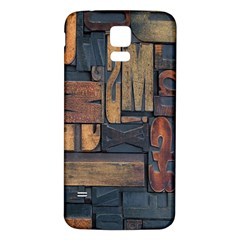 Letters Wooden Old Artwork Vintage Samsung Galaxy S5 Back Case (White)