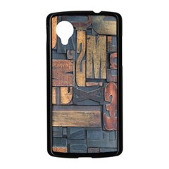 Letters Wooden Old Artwork Vintage Nexus 5 Case (Black)