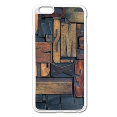 Letters Wooden Old Artwork Vintage Apple iPhone 6 Plus/6S Plus Enamel White Case