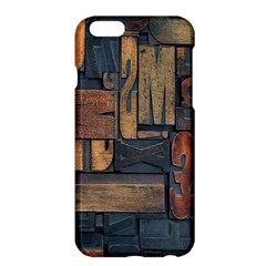 Letters Wooden Old Artwork Vintage Apple iPhone 6 Plus/6S Plus Hardshell Case