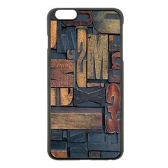 Letters Wooden Old Artwork Vintage Apple iPhone 6 Plus/6S Plus Black Enamel Case