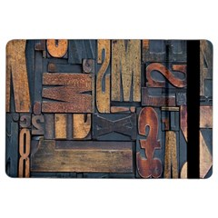 Letters Wooden Old Artwork Vintage iPad Air 2 Flip