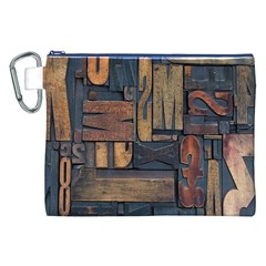 Letters Wooden Old Artwork Vintage Canvas Cosmetic Bag (XXL)