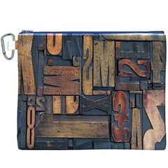 Letters Wooden Old Artwork Vintage Canvas Cosmetic Bag (XXXL)