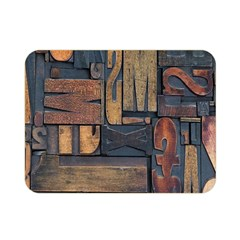 Letters Wooden Old Artwork Vintage Double Sided Flano Blanket (Mini)