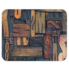 Letters Wooden Old Artwork Vintage Double Sided Flano Blanket (Medium)