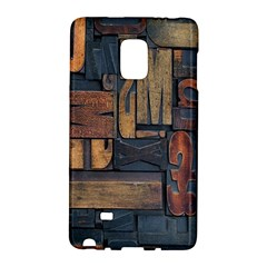 Letters Wooden Old Artwork Vintage Galaxy Note Edge