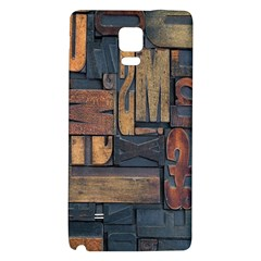 Letters Wooden Old Artwork Vintage Galaxy Note 4 Back Case