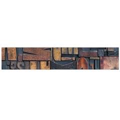Letters Wooden Old Artwork Vintage Flano Scarf (Large)