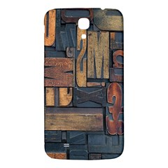 Letters Wooden Old Artwork Vintage Samsung Galaxy Mega I9200 Hardshell Back Case