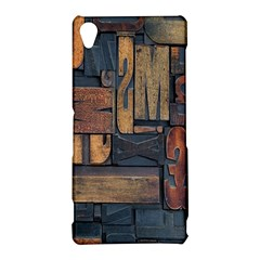 Letters Wooden Old Artwork Vintage Sony Xperia Z3