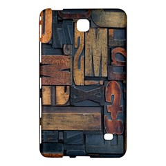 Letters Wooden Old Artwork Vintage Samsung Galaxy Tab 4 (7 ) Hardshell Case