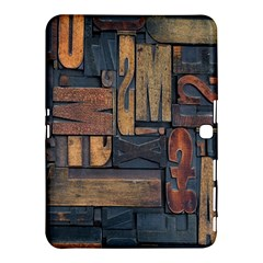 Letters Wooden Old Artwork Vintage Samsung Galaxy Tab 4 (10.1 ) Hardshell Case