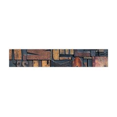 Letters Wooden Old Artwork Vintage Flano Scarf (Mini)