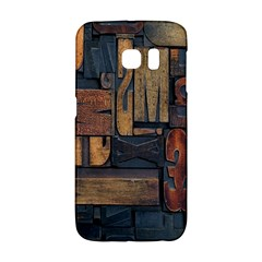 Letters Wooden Old Artwork Vintage Galaxy S6 Edge