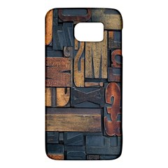 Letters Wooden Old Artwork Vintage Galaxy S6