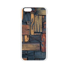 Letters Wooden Old Artwork Vintage Apple Seamless iPhone 6/6S Case (Transparent)