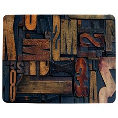 Letters Wooden Old Artwork Vintage Jigsaw Puzzle Photo Stand (Rectangular)