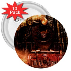 Locomotive 3  Buttons (10 pack)