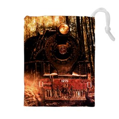 Locomotive Drawstring Pouches (Extra Large)