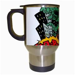 Monster Travel Mugs (White)