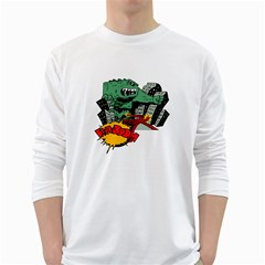 Monster White Long Sleeve T-Shirts