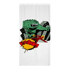 Monster Shower Curtain 36  x 72  (Stall)