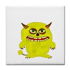 Monster Troll Halloween Shudder  Tile Coasters