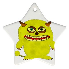 Monster Troll Halloween Shudder  Ornament (Star)