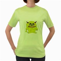 Monster Troll Halloween Shudder  Women s Green T-Shirt