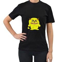 Monster Troll Halloween Shudder  Women s T-Shirt (Black) (Two Sided)