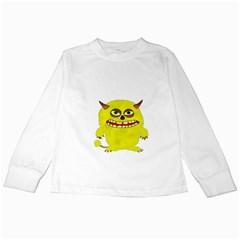 Monster Troll Halloween Shudder  Kids Long Sleeve T-Shirts