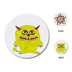 Monster Troll Halloween Shudder  Playing Cards (Round)