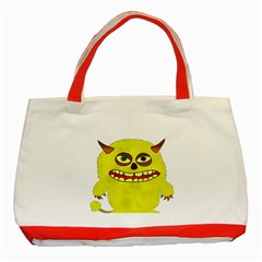 Monster Troll Halloween Shudder  Classic Tote Bag (Red)